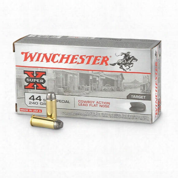 Winchester Cowboy Action, .44 S&w Special, Lfn, 240 Grain, 50 Rounds