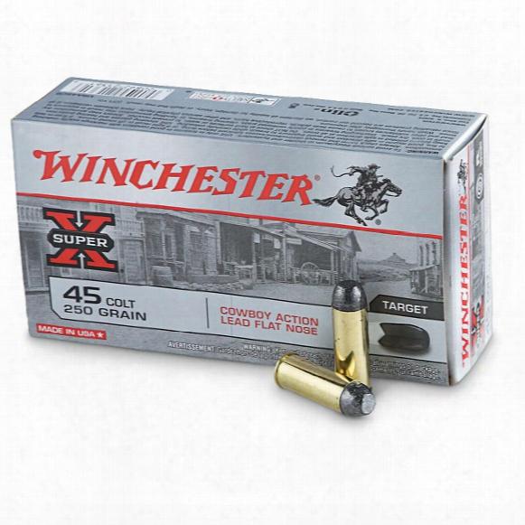 Winchester Cowboy Action, .45 Long Colt, Lfn, 250 Grain, 50 Rounds