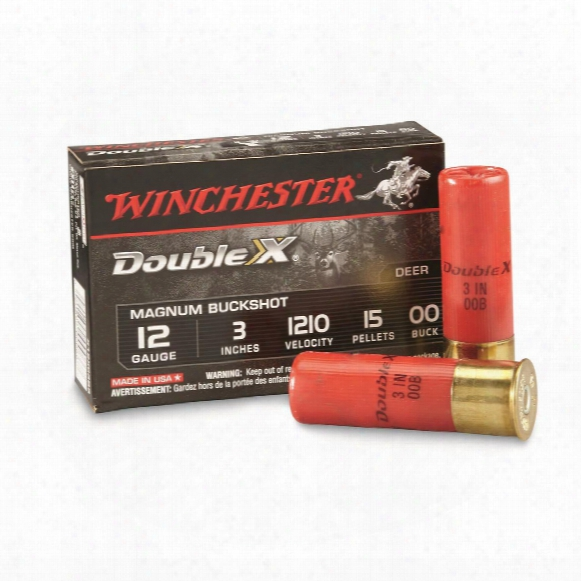"Winchester Double X Magnum Buckshot, 12 Gauge, 3"" 00 Buck, 5 Rounds"