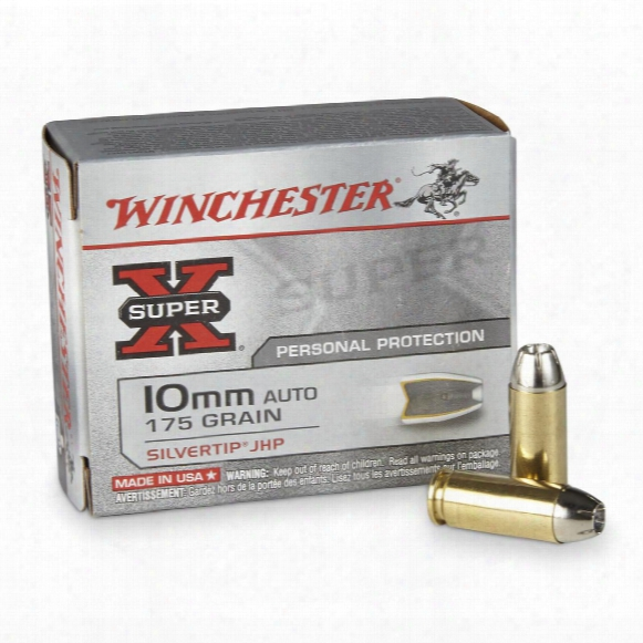 Winchester Super-x, 10mm Auto, Sthp, 175 Grain, 20 Rounds