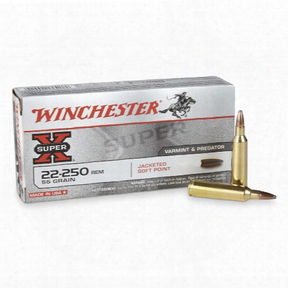 Winchester Super-x, .22-250 Remington, Psp, 55 Grain, 20 Rounds