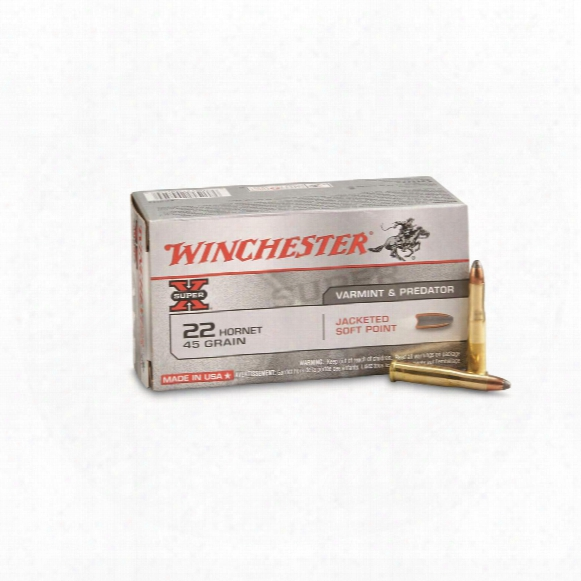 Winchester, Super-x, .22 Hornet, Sp, 45 Grain, 50 Rounds