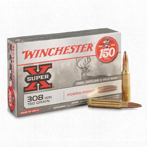 Winchester Super-x, .30 8winchester, Pp, 150 Grain, 20 Rounds