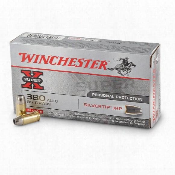 Winchester Super-x, .380 Acp, Sthp, 85 Grain, 50 Rounds
