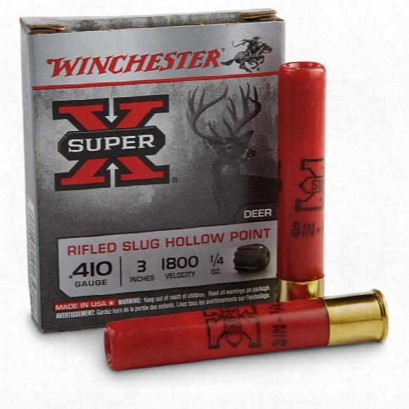 "Winchester Super-x, 410 Gauge, 3"", 1/4 Oz., Rifled Slugs"