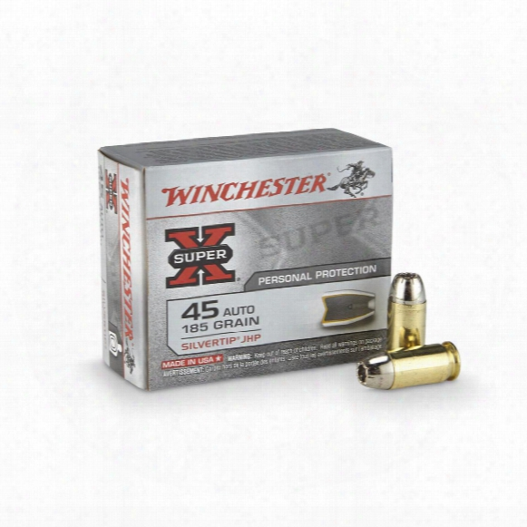 Winchester Super-x, .45 Auto, Sthp, 185 Grain, 20 Rounds