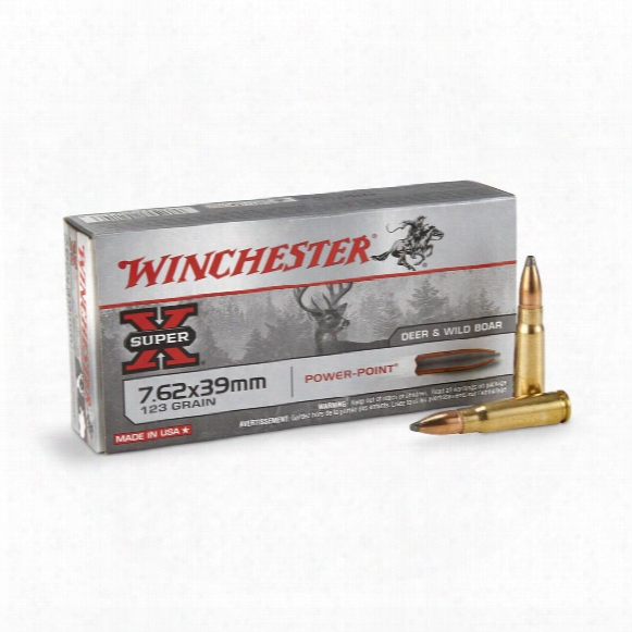 Winchester Super-x, 7.62x39mm, Pp, 123 Grain, 20 Rounds