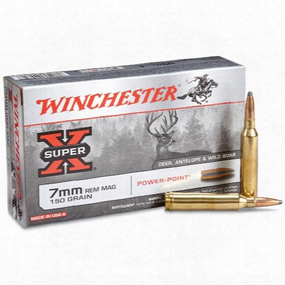 Winchester Super-x, 7mm Remington Magnum, Pp, 150 Grain, 0 Rounds