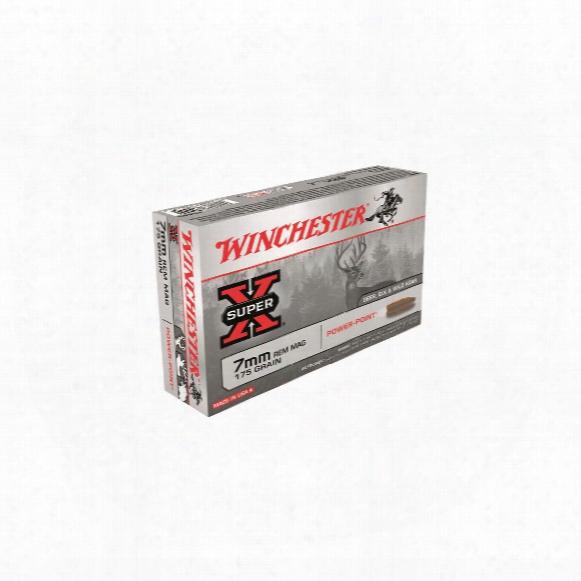Winchester Super-x, 7mm Remington Magnum, Pp, 175 Grain, 20 Rounds