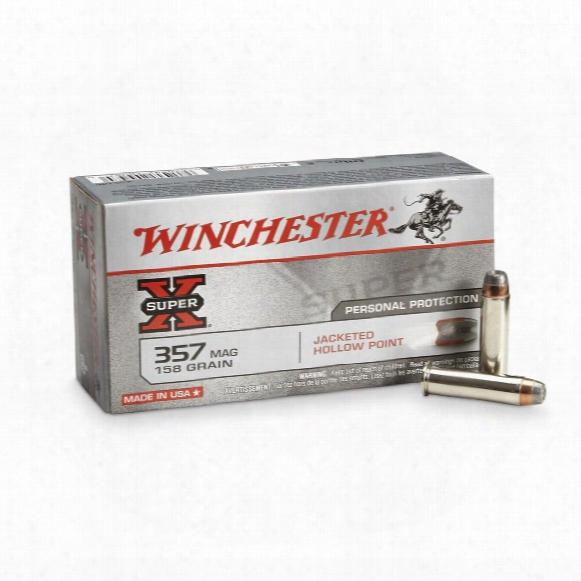 Winchester Super-x Handgun .357 Magnum 158 Grain Jhp 50 Rounds