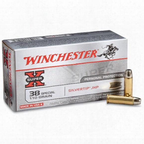 Winchester Super-x Handgun, .38 Special, Sthp, 110 Grain, 50 Rounds