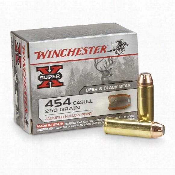 Winchester Super-x Handgun 454 Casull 250 Grain Jhp 20 Rounds
