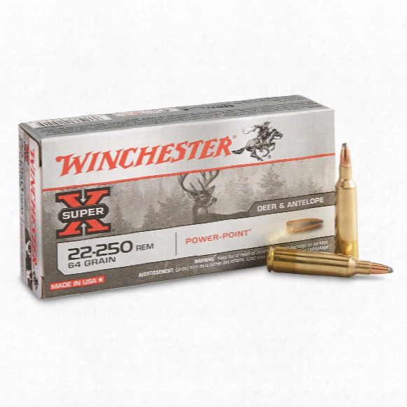 Winchester Super-x Rifle, .22-250 Rem., Pp, 64 Grain, 20 Rounds