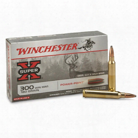 Winchester Super-x Rifle, .300 Winchester Magnum, Pp, 180 Grain, 20 Rounds