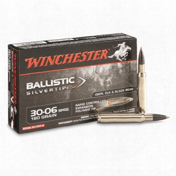 Winchester Supreme Ballistic Silvertip, .30-06 Springfield, Bst, 180 Grain, 20 Rounds