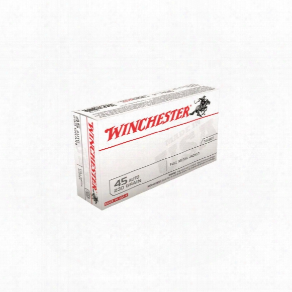 Winchester, Usa, .45 Acp, Fmj, 230 Grain, 1,000 Rounds