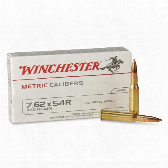 Winchester Usa, 7.62x54r, Fmj, 180 Grain, 20 Ronds