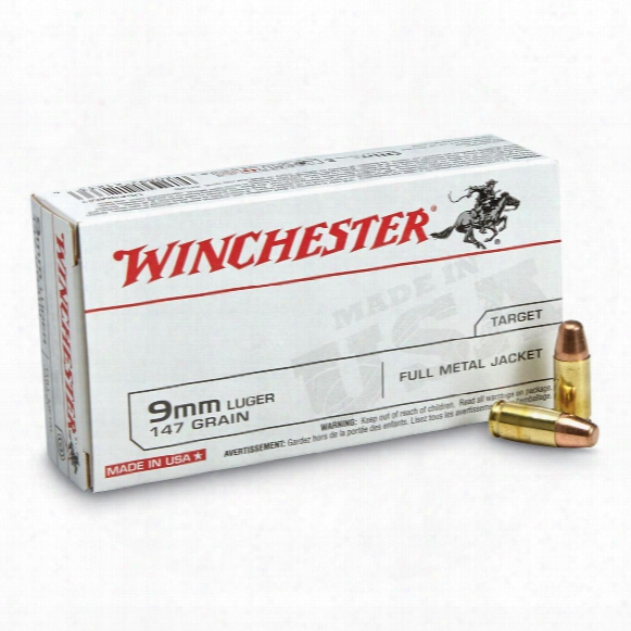 Winchester U.s.a., 9mm Luger, Tcmc, 147 Grain, 50 Rounds