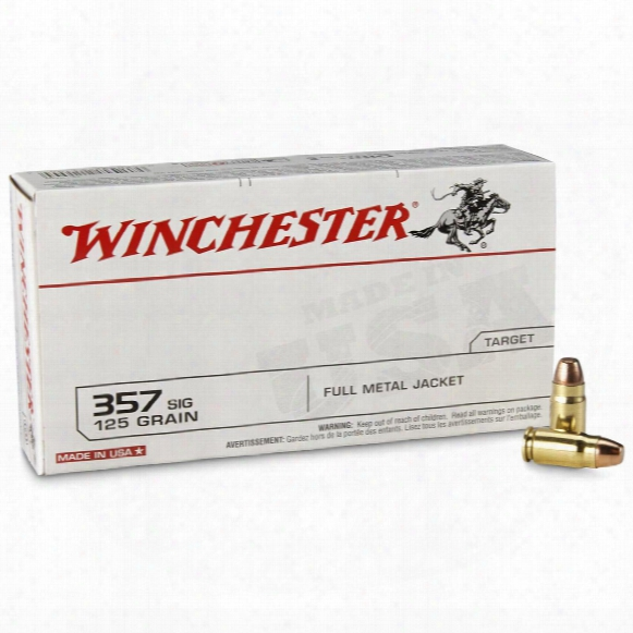 Winchester Usa Pistol, .357 Sig, 125 Grain, Fmjfn, 50 Rounds
