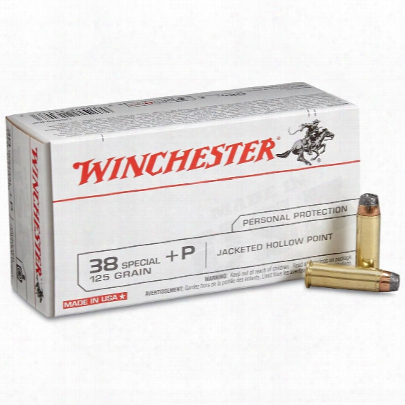 Winchester Usa Pistol, .38 Special +p, Jhp, 125 Grain, 50 Rounds
