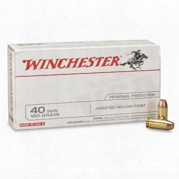 Winchester Usa Pistol, .40 S&w, Jhp, 180 Grain, 50 Rounds