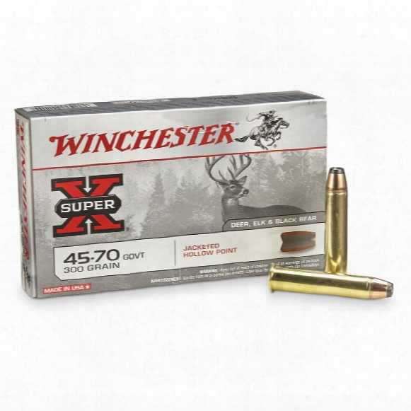 Winchester® Super - X® Rifle .45-70 Govt. 300 Grain Jhp 20 Rounds