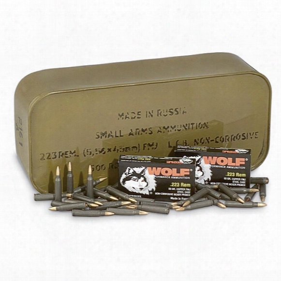 Wolf Performance, .223 Remington, Fmj, 55 Grain, 500 Rounds