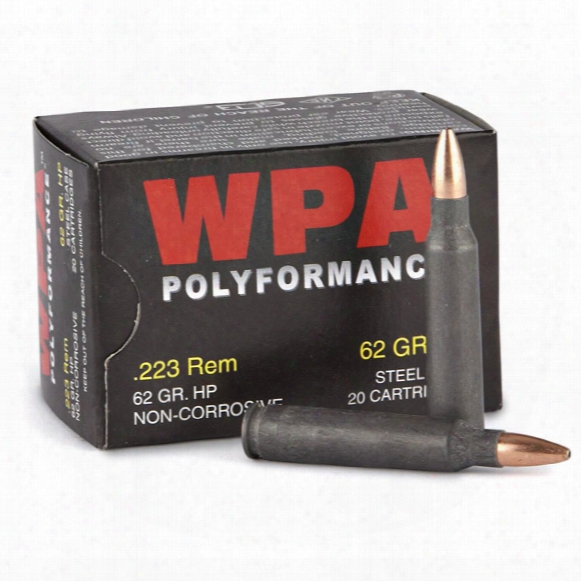 Wolf Polyformance, .223 Rem., Hp, 62 Grain, 240 Rounds