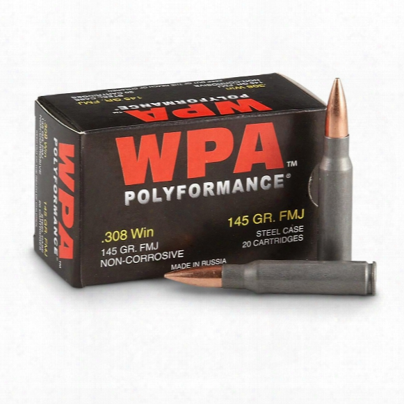 Wolf Polyformance, .308, Fmj, 145 Grain, 500 Rounds