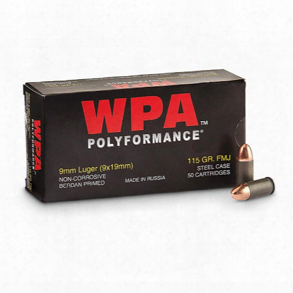 Wolf Polyformance, 9mm Luger, Fmj, 115 Grain, 500 Rounds
