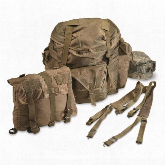 Austrian Military Surplus Rucksack Set, 3 Piece, Used