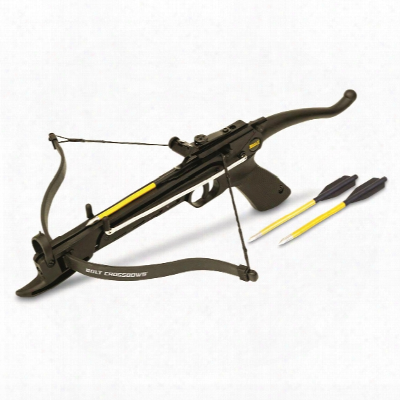 Bolt Crossbows Burst Fast Cocking Pistol Grip Crossbow With Three Bolts, 80 Lbs.