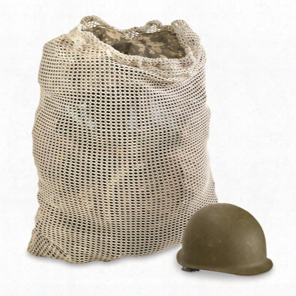 British Military Surplus Mesh Laundry Bag, 2 Pack, Used