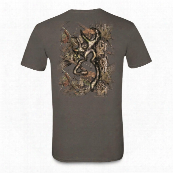 Browning Men's Background Camo Buckmark T-shirt
