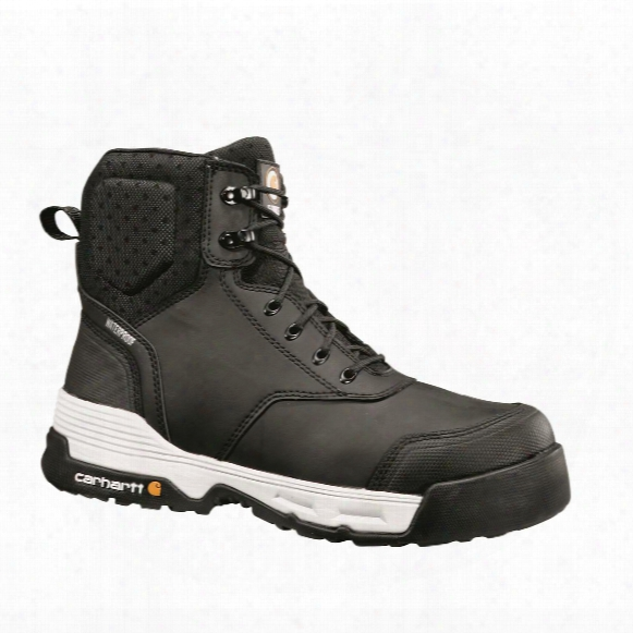 "Carhartt Force Men's Waterproof 6"" Composite Toe Work Boots, Black"