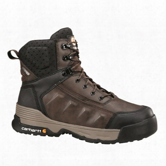 "Carhartt Force Men's Waterproof 6"" Work Boots, Brown"