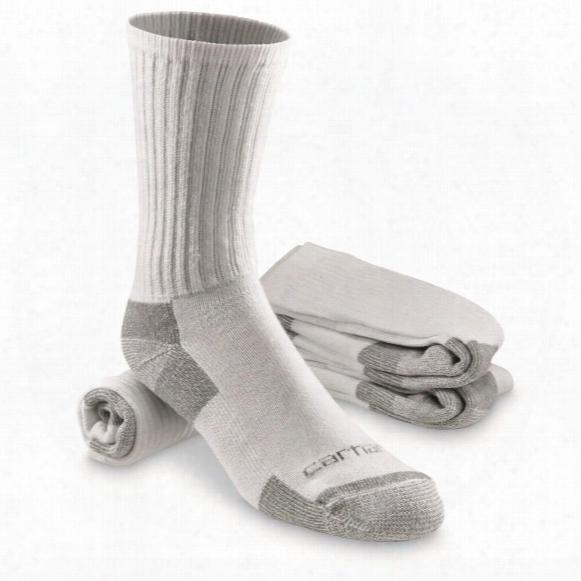 Carhartt Men's All Season Crew Socks, 3 Pairs