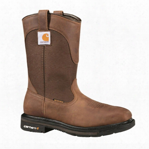 "Carhartt Men's 11"" Steel Toe Square Toe Wellington Work Boots, Dark Bison"