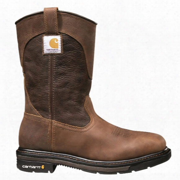 "Carhartt Men's 11"" Steel Toe Square Toe Wellington Work Boots, Brown"