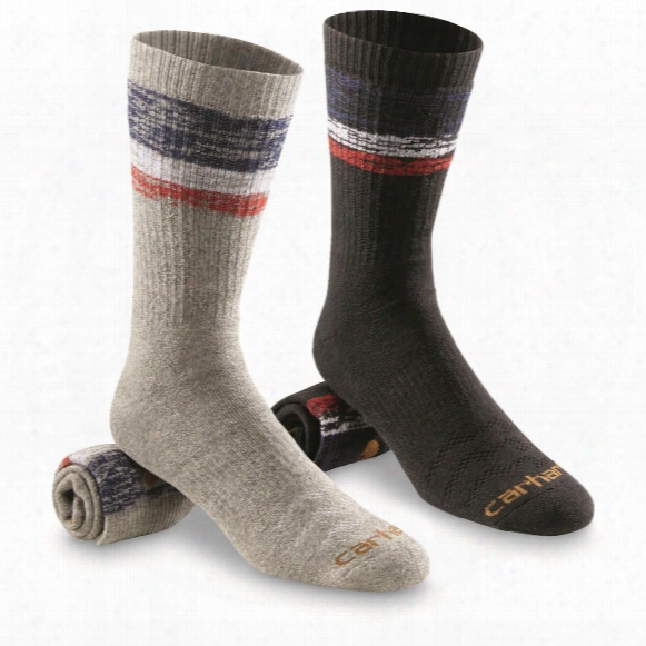Carhartt Men's Limited Edition Made In Usa Crew Socks, 2 Pack