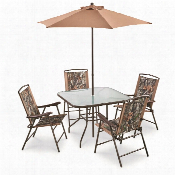 Castlecreek Complete Camo Patio Dining Set, 6 Pieces