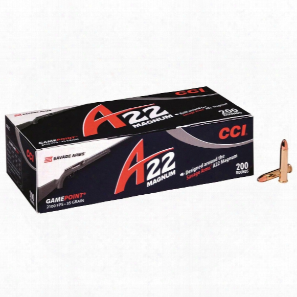 Cci A22 Magnum, .22 Winchester Magnum, Game Point, 35 Grain, 200 Rounds