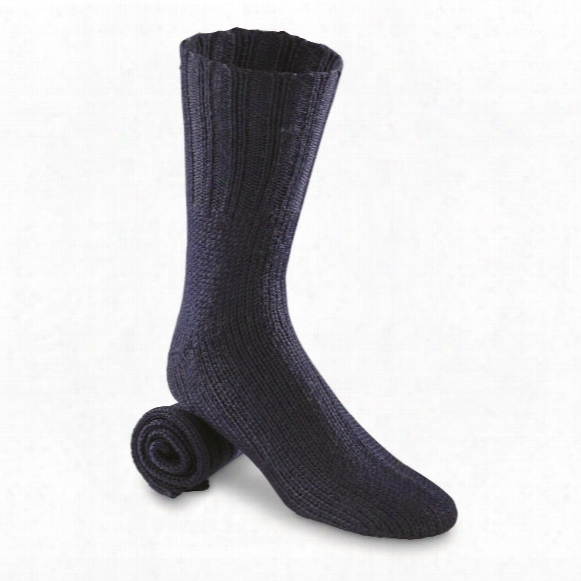 Chinese Military Surplus Heavyweight Wool Boot Socks, 10 Pack, New