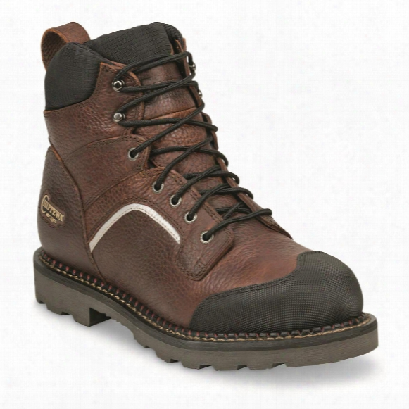 "Chippewa Men's Waterproof 6"" Fall Flame Xog Composite Toe Work Boots"