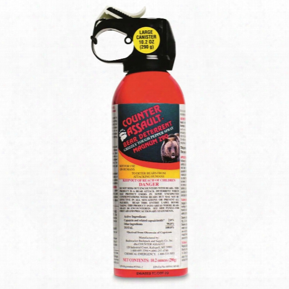 Counter Assault Bear Deterrent Spray With Belt Holster, 10.2 Ounces