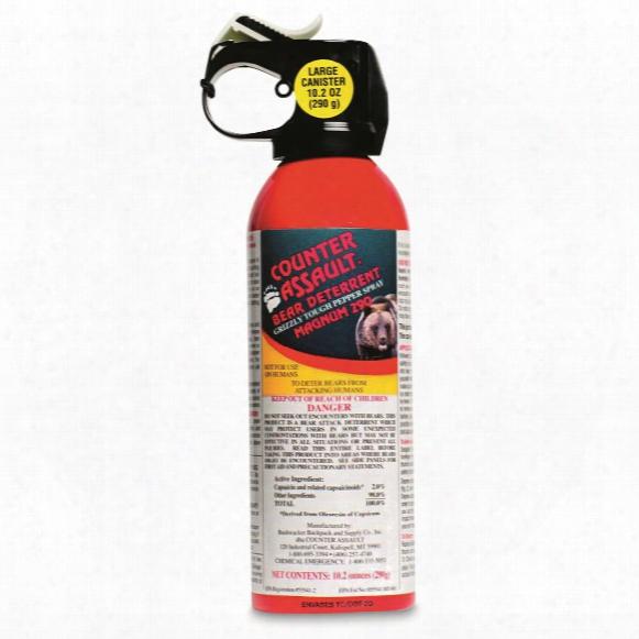 Counter Assault Bear Deterrent Spray With Belt Holster, 10.2 Ounces