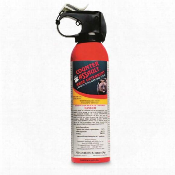 Counter Assault Bear Deterrent Spray With Belt Holster, 8.1 Ounces