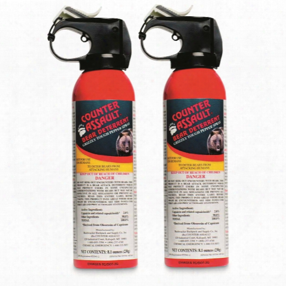 Counter Assault Bear Deterrent With Belt Holster, 8.1 Ounces, 2 Pack