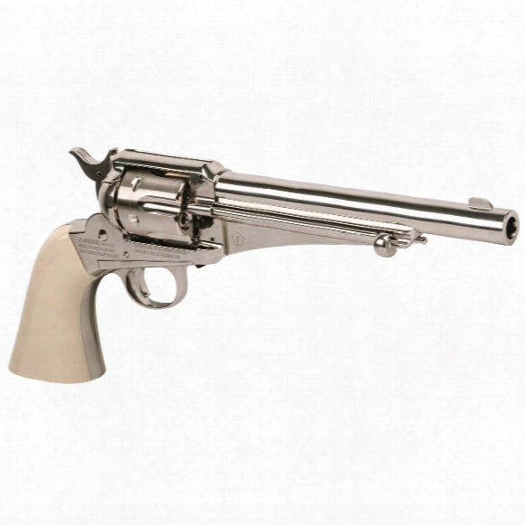 "Crosman Co2 Replica Remington 1875 Single Action Army Revolver, 6"" Barrel, Dual Caliber Bb Or Pellet"