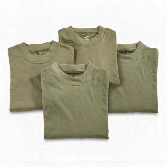 Czech Military Surplus Long Sleeve T-shirts, 4 Pack, New